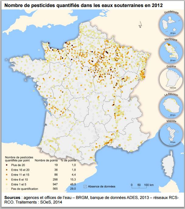 carte France NB pesticide