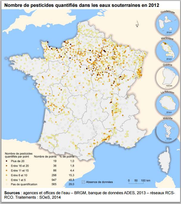carte France NB pesticide